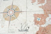 Map of the discoveries routes in Lisbon, — Stock Photo