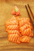 Sashimi meal with salmon — Stock Photo