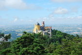 Colorful Palace of Pena landscape view i — Стоковое фото