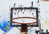Basketball hoop (background) — Stock Photo