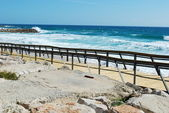 Boardwalk to local beach — Stock Photo
