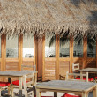 Beach restaurant view in Maldives (ocean — Stockfoto #1299555
