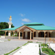 Green mosque in a Maldivian Island — Stock Photo