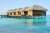 Water villas in Maldives — Stock Photo