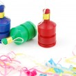 Party poppers on white — Stock Photo #2371825
