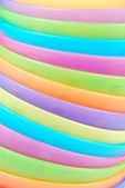 Stacked colorful bowls background — Stock Photo