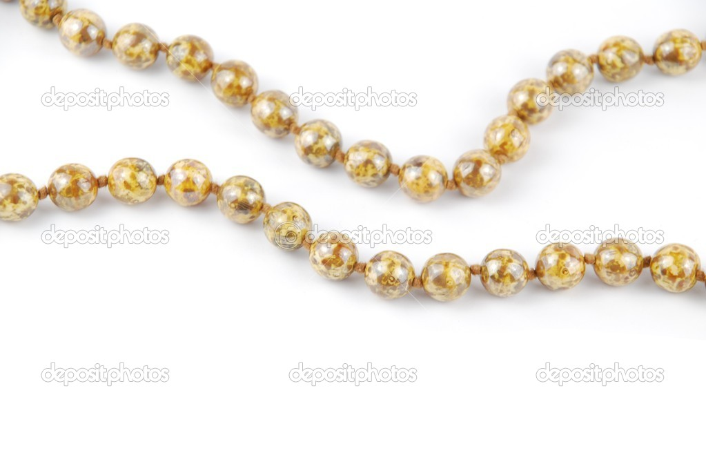 Close-up on pearl necklaces isolated on a white background — Stock Photo #2371700