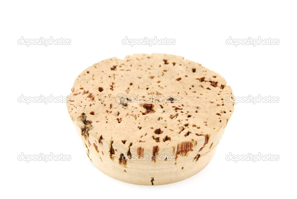Close up on a big cork stopper isolated on white background — Stock Photo #2371794