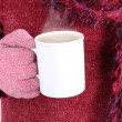 Warm beverage in Winter — Stock Photo