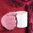 Stock Photo: Warm beverage in Winter