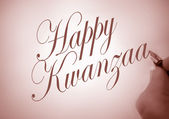 Callligraphy Happy Kwanzaa — Stock Photo