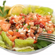 Healthy vegetarian bean salad — Stock Photo