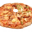 Round Italian pizz — Stock Photo