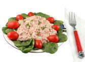 Tuna fish and spinach salad — Stock Photo