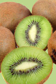 Fuzzy kiwi fruits — Stock Photo