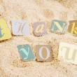 Thank you on sand — Stock Photo #1970889