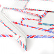Air Mail envelopes with paper plane — Stock Photo