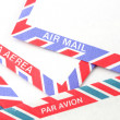 Air Mail envelopes — Stock Photo