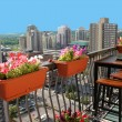 Foto de Stock  : Rooftop patio