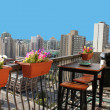 Rooftop patio — Stock Photo