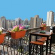 Stock Photo: Rooftop patio