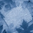 Royalty-Free Stock Photo: Blue leaf background