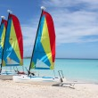 Stock Photo: Tropical beach sailboats