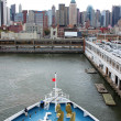 New York  harbor — Stock Photo