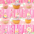 Birthday number cupcakes — Stock Photo