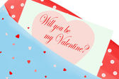 Will you be my valentine? card — 图库照片