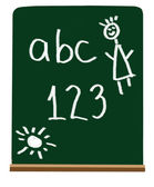 Primary school letters and numbers — Stock Photo