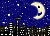 Starry city night — Stock Photo