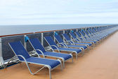 Row of loungers — Stock Photo