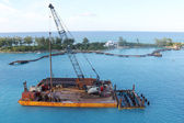 Barge in Nassau — Stock Photo