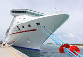 Tropical ship at port — Stock Photo