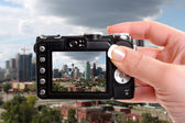 Taking snapshot of Calgary — Stock Photo
