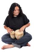 Ethnic drummer — Stock Photo