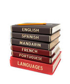 Language text books — Stock Photo