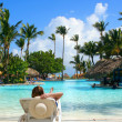 Tropical pool bar — Stock Photo #1980283