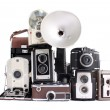 Stock Photo: Antique cameras