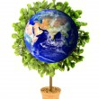Planet Earth Eco Plant - Stock Photo