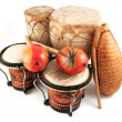 Latin rhythm instruments — Stock Photo