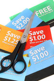 Coupon clipping — Stock Photo