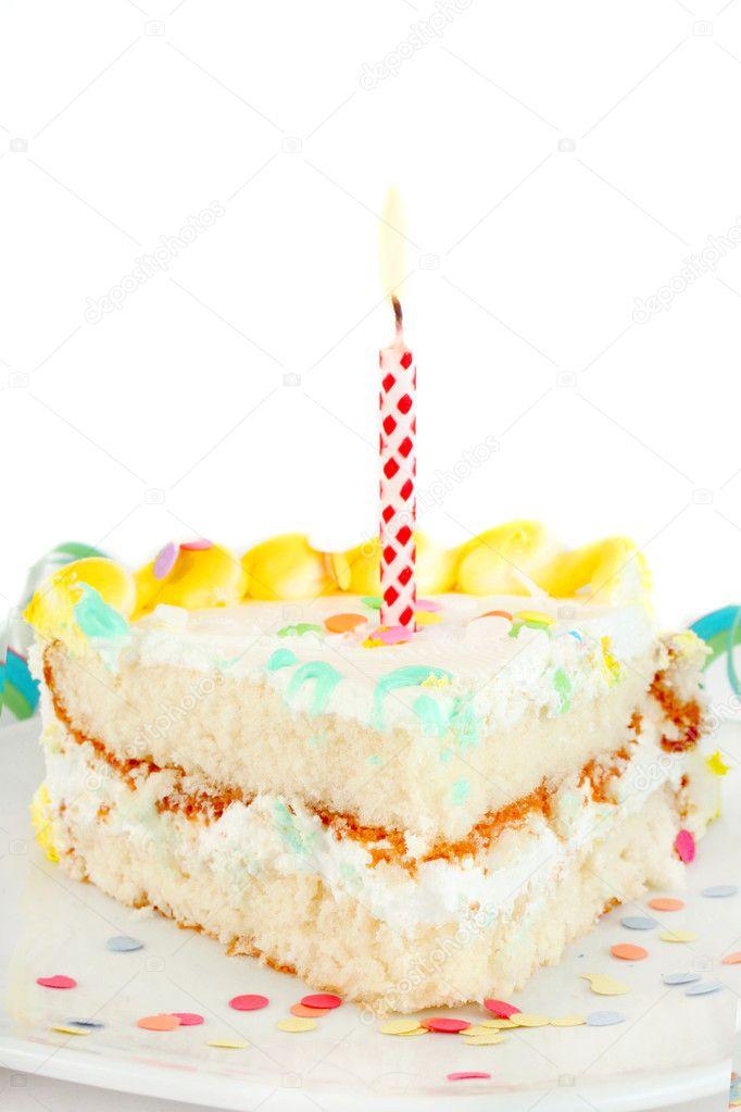 Images Of Birthday Cake Slices : Slice of birthday cake   Stock Photo ? gvictoria #1983861