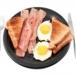 Bacon and eggs smile — Stock Photo #2035322