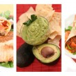 Mexican food collage - Foto Stock