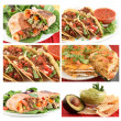 Mexican food collage - Stock Photo