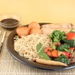 Asian noodles and vegetables - Stock Photo