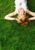 Relaxing woman — Stock Photo