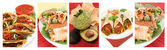 Mexican food collage — Foto Stock